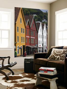 Old Buildings in Bryggen by Christer Fredriksson