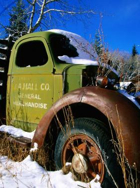Side of Old Truck in Snow, U.S.A. by Christer Fredriksson