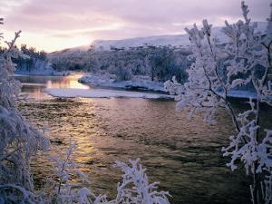 Snowy Riverscape, Vindelfjallen Nr, Umea, Sweden by Christer Fredriksson