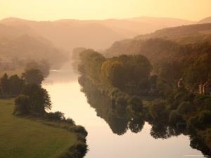 Vltava Moldau River from Karlstejn Castle by Christer Fredriksson
