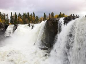 Waterfall and Forest in Autumn by Christer Fredriksson