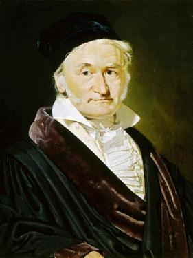 Karl Friedrich Gauss, German Mathematician, Astronomer and Physicist, 1840 by Christian Albrecht Jensen