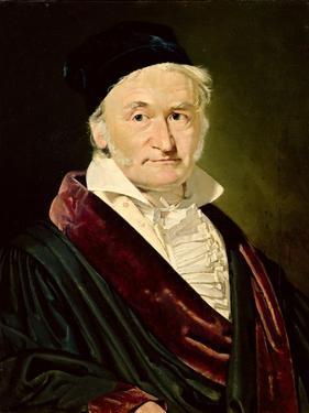Portrait of Carl Friedrich Gauss, 1840 by Christian-albrecht Jensen