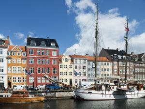 Colorful Facades and Docked Boats at Christianshavn by Christian Aslund