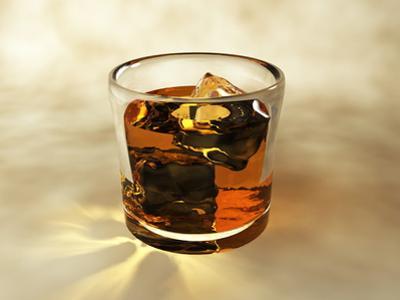 Glass of Whiskey, Computer Artwork by Christian Darkin