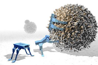 Nanorobots Killing Cancer Cell by Christian Darkin