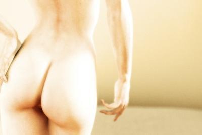 Nude Woman's Buttocks, Computer Artwork by Christian Darkin