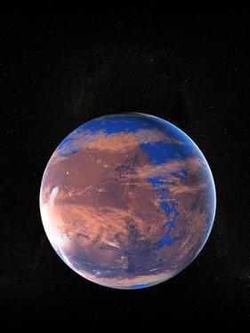 Water on a Prehistoric Mars by Christian Darkin