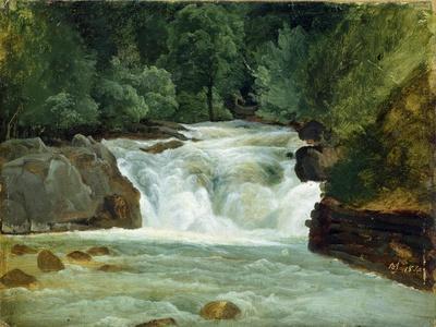 A Waterfall in Upper Bavaria, 1830
