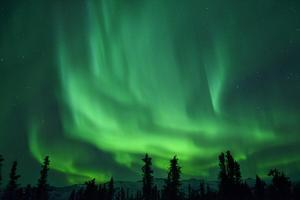 Aurora Borealis at Chena Hot Springs, Fairbanks, Alaska, Usa by Christian Heeb
