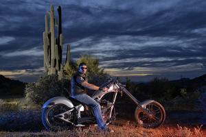 Dan Stewart on Chopper Bike, Scottsdale, Arizona, Usa Mr by Christian Heeb