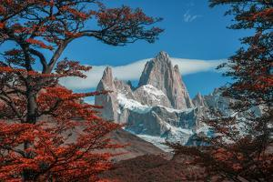South America, Patagonia, Argentina, El Chalten, Mount Fitz Roy in Los Glaciares National Park by Christian Heeb