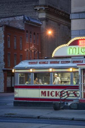 Usa,Midwest, Minnesota, St.Paul, Mickey's Diner by Christian Heeb