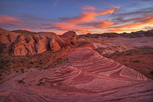Usa, Southwest,Nevada, Valley of Fire, State Park, Fire Wave by Christian Heeb