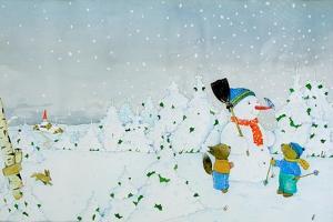 Build a snowman by Christian Kaempf