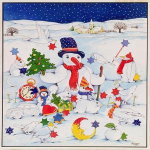 Snowman and Friends by Christian Kaempf
