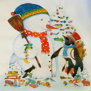 Snowman and Penguin by Christian Kaempf