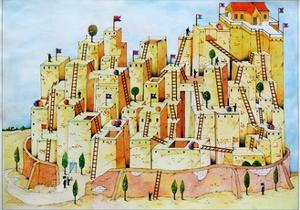 Town and Ladders by Christian Kaempf