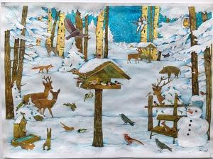 Winter in the forest by Christian Kaempf