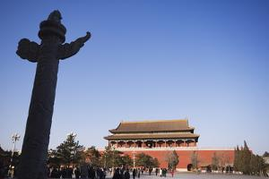 A Huabiao Statue Infront of the Forbidden City Beijing China by Christian Kober
