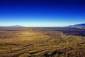 Aerial view of volcanic landscape, Mauna Kea, Big Island, Hawaii, USA by Christian Kober