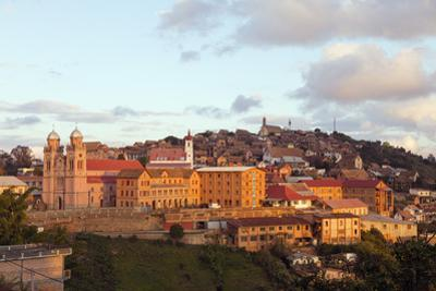 Ambozontany Cathedral, Fianarantsoa Haute Ville in the afternoon, central area, Madagascar, Africa by Christian Kober