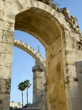 Arch of the Hurva Synagogue, Old Walled City, Jerusalem, Israel, Middle East by Christian Kober