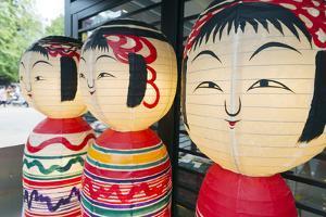 Asia, Japan, Honshu, Decorative Doll Lanterns by Christian Kober