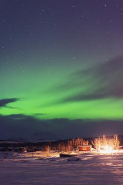 Aurora Borealis (Northern Lights), Abisko, Lapland, Arctic Circle, Sweden, Scandinavia, Europe by Christian Kober