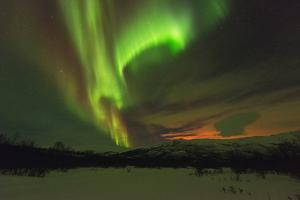Aurora Borealis (Northern Lights) on Kungsleden (Kings Trail) by Christian Kober