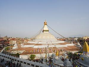 Boudha Stupa (Chorten Chempo), Boudhanath, Kathmandu, Nepal, Asia by Christian Kober