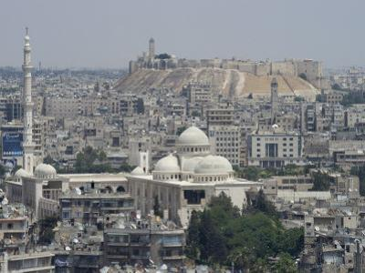 City Mosque and the Citadel, Aleppo (Haleb), Syria, Middle East by Christian Kober