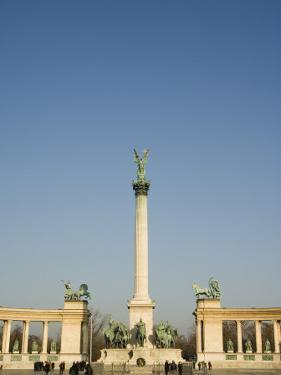 Column and Colonnade, Heroes Square, Budapest, Hungary, Europe by Christian Kober