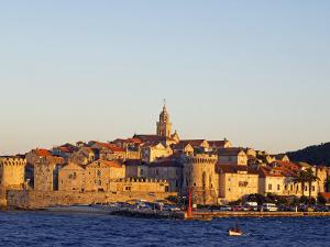 Dalmatia Coast Korcula Island Seafront Harbour View of Medieval Old Town and City Walls by Christian Kober