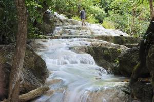 Erawan Falls, Erawan National Park, Kanchanaburi, Thailand, Southeast Asia, Asia by Christian Kober