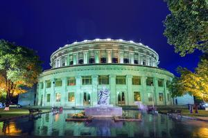 Eurasia, Caucasus Region, Armenia, Yerevan, Opera House, Statue of Flute Player Aram Khachaturian by Christian Kober