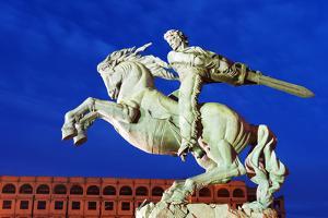 Eurasia, Caucasus Region, Armenia, Yerevan, Train Station Square, Statue of Sasuntsi David by Christian Kober