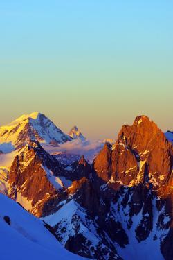 Europe, France, Haute Savoie, Rhone Alps, Chamonix, Grand Combin and the Matterhorn in Switzerland by Christian Kober