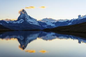 Europe, Switzerland, Valais, Zermatt, Matterhorn (4478M), Stellisee Lake by Christian Kober