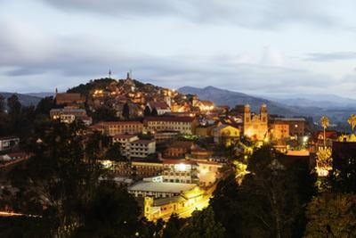 Fianarantsoa Haute Ville in the evening, central area, Madagascar, Africa by Christian Kober
