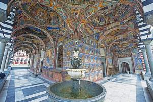 Frescoes at Rila Monastery, UNESCO World Heritage Site, Bulgaria, Europe by Christian Kober