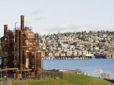 Gas Works Park, Lake Union, Seattle, Washington State, United States of America, North America