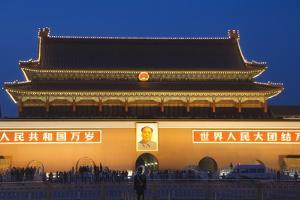 Gate of Heavenly Peace and Portrait of Mao Zhe Dong, Tiananmen Square, Beijing, China, Asia by Christian Kober