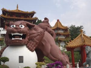 Giant Guardian, Wenwu Temple, Sun Moon Lake, Nantou County, Taiwan by Christian Kober