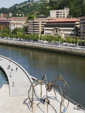 Giant Spider Sculpture by Louise Bourgeois, Nervion River, Bilbao, Basque Country, Spain, Europe by Christian Kober