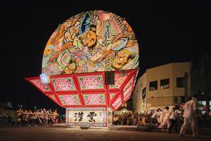 Giant taiko drum, Nebuta festival floats, Hirosaki, Aomori prefecture, Tohoku, Honshu, Japan by Christian Kober
