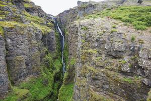 Glymur Waterfall, Iceland's Tallest at 198M, Iceland, Polar Regions by Christian Kober