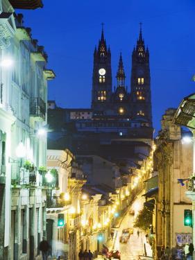 Gothic Basilica Del Voto Nacional, Old Town, UNESCO World Heritage Site, Quito, Ecuador by Christian Kober