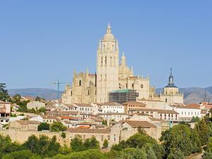 Gothic Style Segovia Cathedral Dating From 1577, Segovia, Madrid, Spain, Europe by Christian Kober