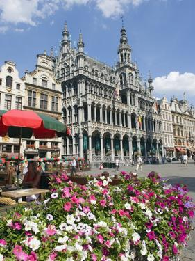 Guildhalls in the Grand Place, UNESCO World Heritage Site, Brussels, Belgium, Europe by Christian Kober
